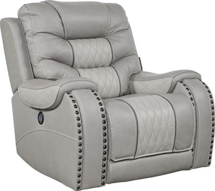 Eric Church Highway To Home Headliner Gray Leather Dual Power Recliner