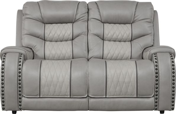 Eric Church Highway To Home Headliner Gray Leather Loveseat