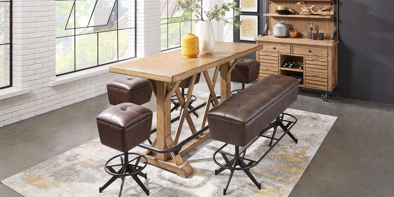 Eric Church Highway To Home Tap Room Blonde 5 Pc Bar Height Dining Room