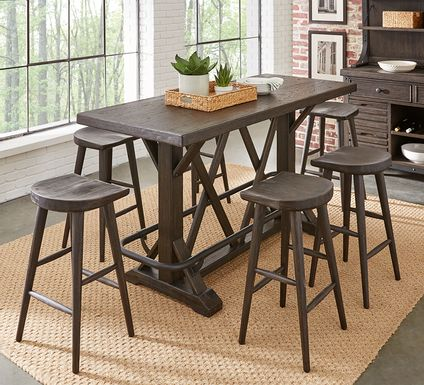 Eric Church Highway To Home Tap Room Brown 5 Pc Bar Height Dining Room