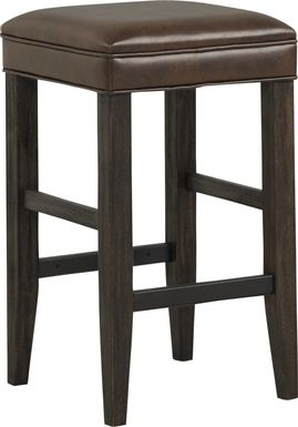 Eric Church Highway To Home Tap Room Brown Upholstered Barstool