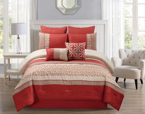 Estefani Orange 8 Pc King Comforter Set