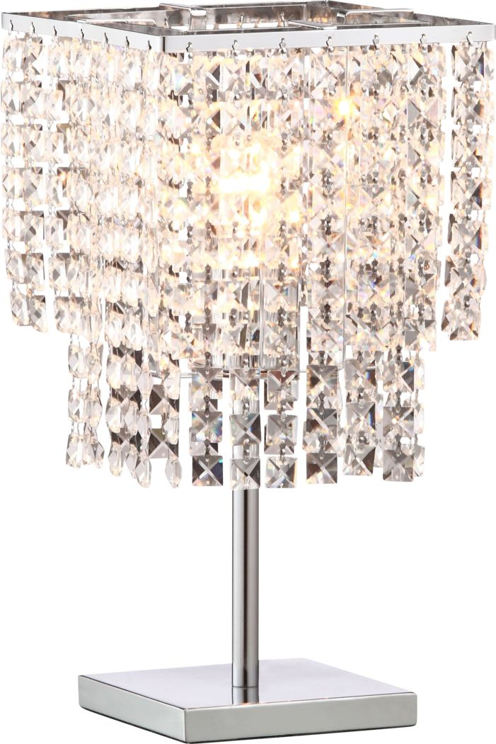 Eucalyptus Court Chrome Lamp