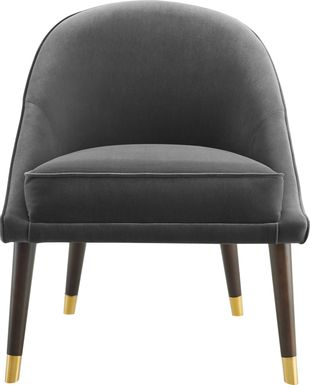 Evadean Charcoal Gray Accent Chair