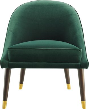 Evadean Emerald Accent Chair