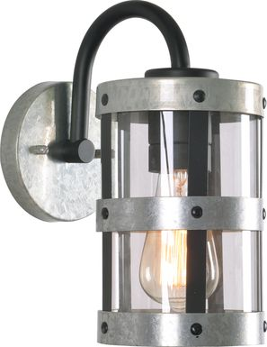 Evancho Silver Outdoor Wall Sconce