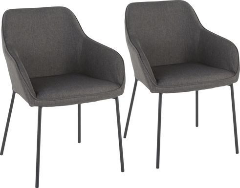 Evarts Charcoal Dining Chair, Set of 2