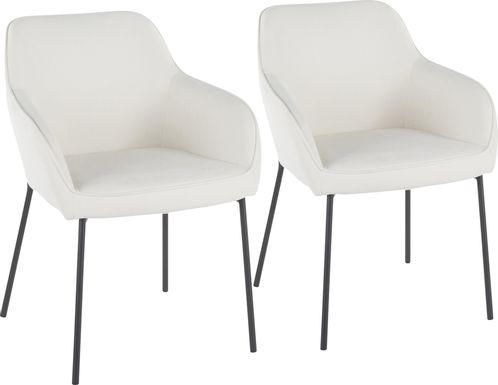 Evarts Cream Dining Chair, Set of 2