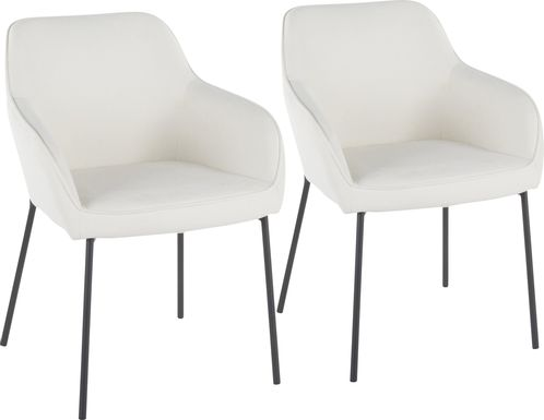 Evarts Cream Dining Chair, Set of 2