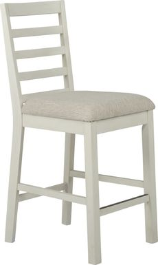 Everdeen Cottage White Counter Height Stool