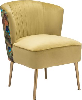 Exotic Flair Yellow Accent Chair