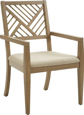 Fairlee Tan Dining Chairs, Set of 2