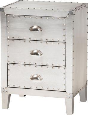 Faison Silver Accent Cabinet