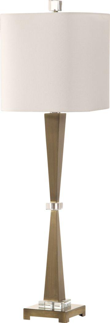 Falconer Island Brass Lamp