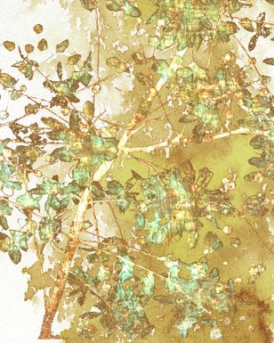 Fall Leaves II Yellow Artwork