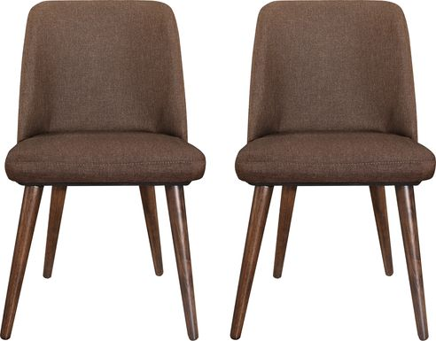 Fallcast Brown Set of 2 Side Chairs
