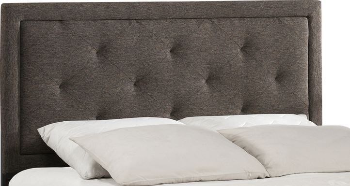 Fallenrock Black Queen Upholstered Headboard