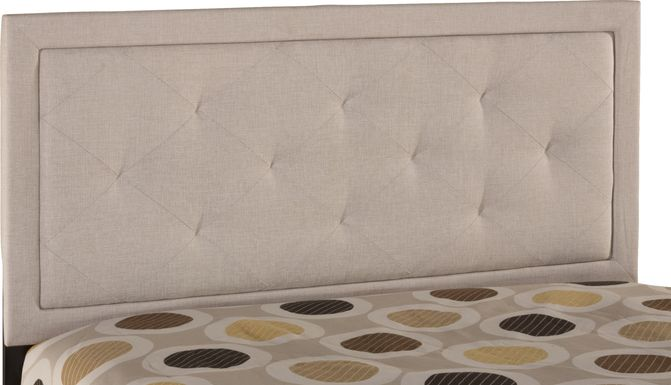 Fallenrock Cream King Upholstered Headboard