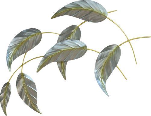 Falling Leaves I Green Indoor/Outdoor Wall Art