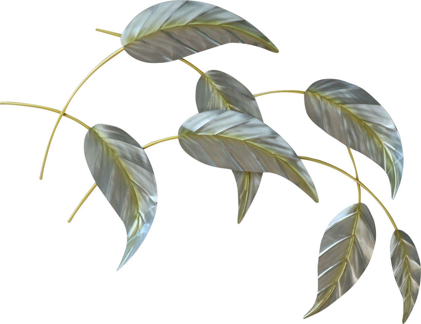 Falling Leaves II Green Indoor/Outdoor Wall Art