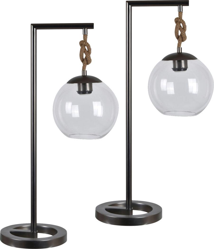 Farleigh Black Lamp, Set 2