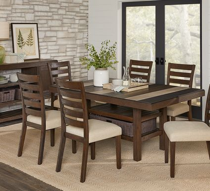 brown 5 pc rectangle dining room