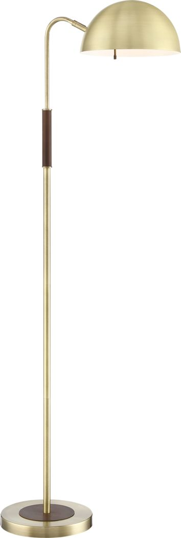 Farrell Alley Brass Floor Lamp