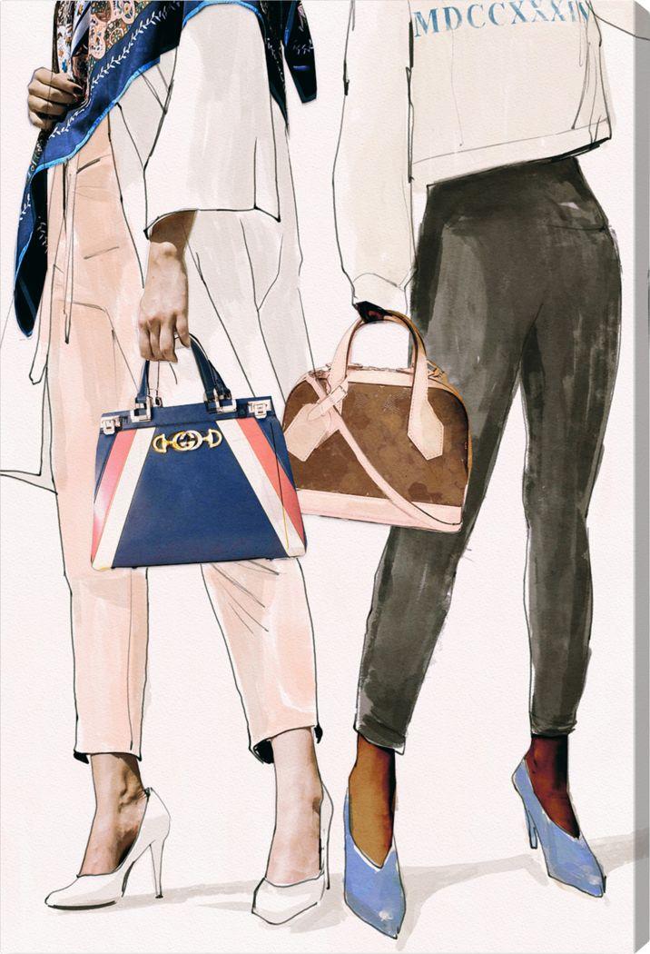 Fashion Friends White Artwork