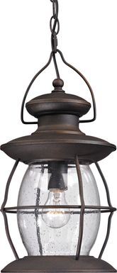 Fassit Black Outdoor Chandelier