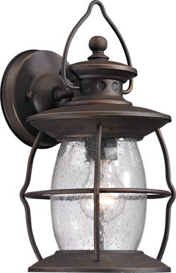 Fassit Black Outdoor Wall Sconce