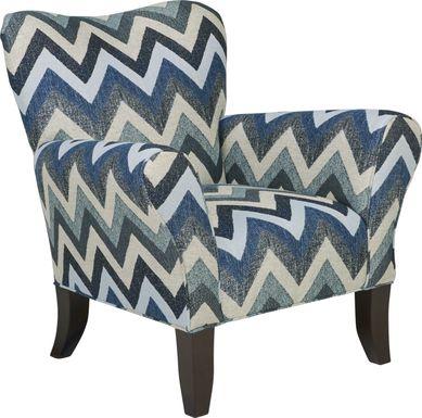 Fast Track Beach Glass Blue Accent Chair