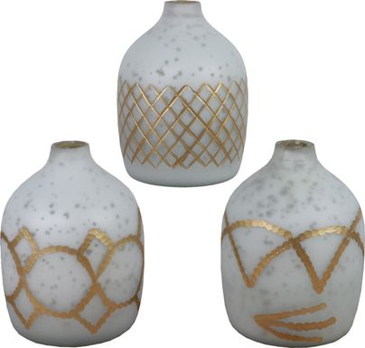Faustine White Vase Set of 3