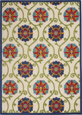 Faylen Blue 8' x 11' Indoor/Outdoor Rug