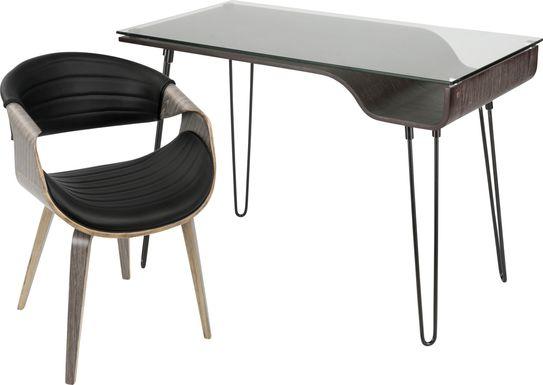 Felton Gray Desk and Chair