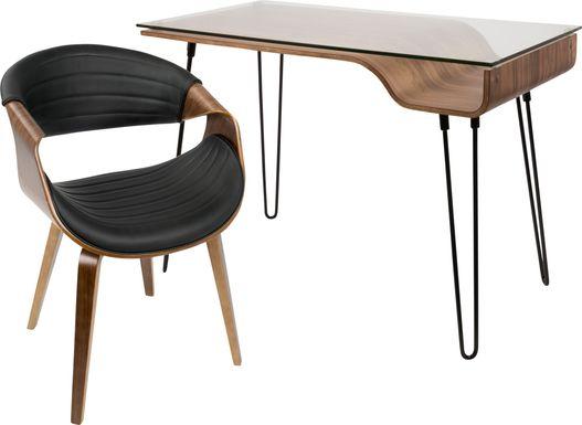 Felton Walnut Desk and Chair