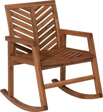 Fencerow Brown Outdoor Rocking Chair