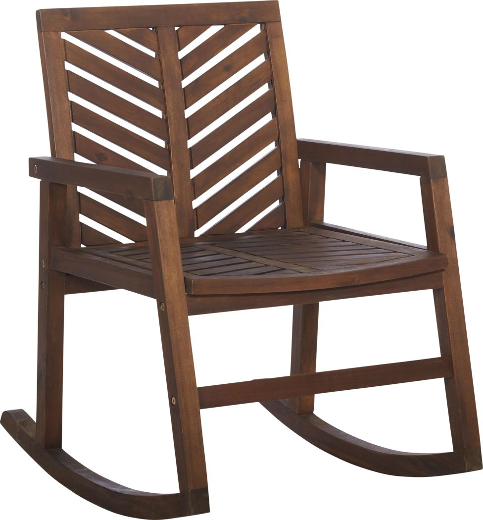 Fencerow Dark Brown Outdoor Rocking Chair