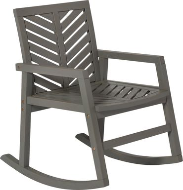 Fencerow Gray Outdoor Rocking Chair