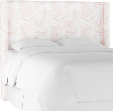Fern Grove Pink King Upholstered Headboard
