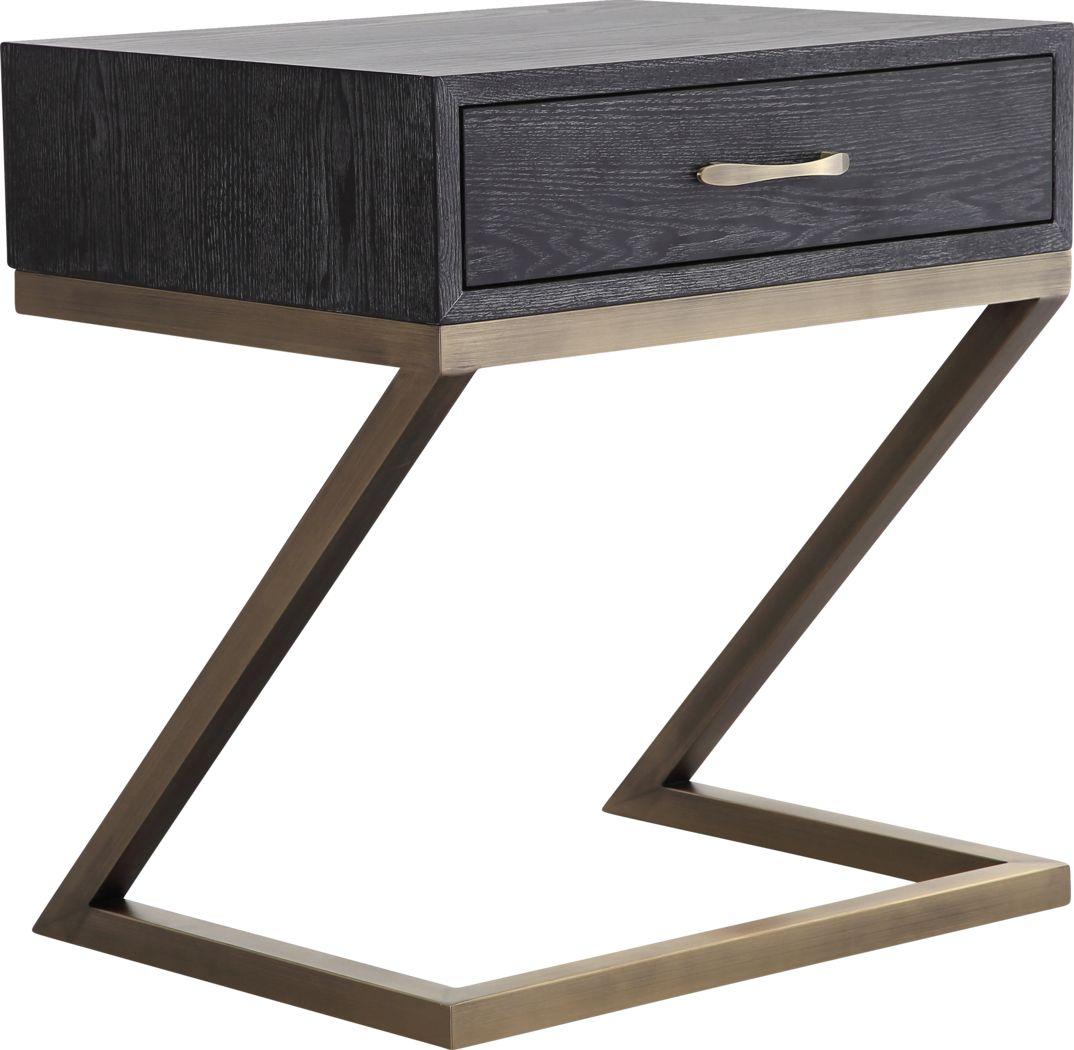 Ferris Black Accent Table