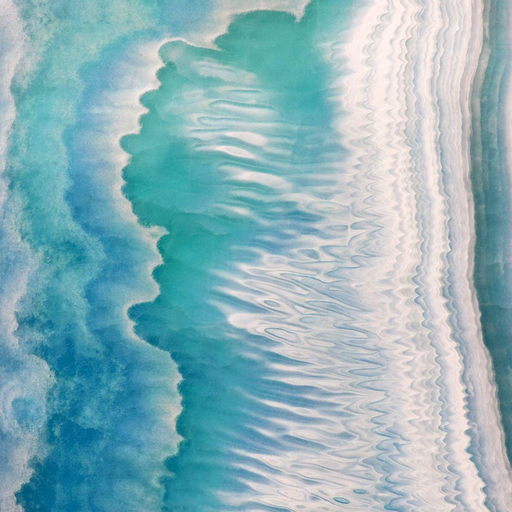 Fierce Tides Blue Artwork