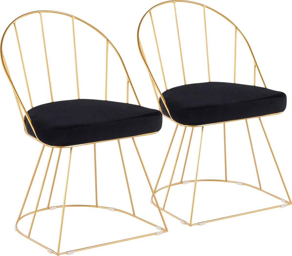 Filia Black Side Chair, Set of 2
