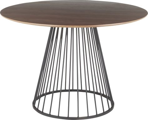 Filia Brown Round Dining Table