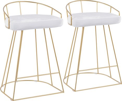 Filia Gold Counter Height Stool, Set of 2