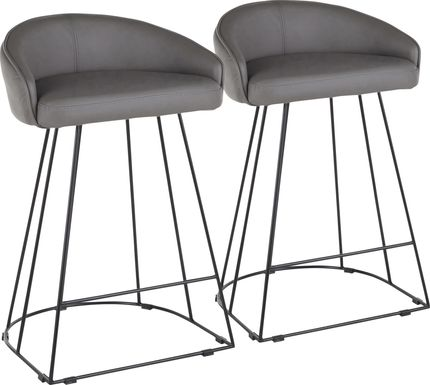 Filia Gray Ultrahyde Counter Height Stool, Set of 2