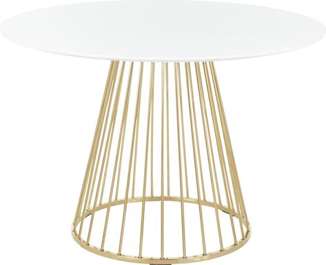 Filia White Round Dining Table