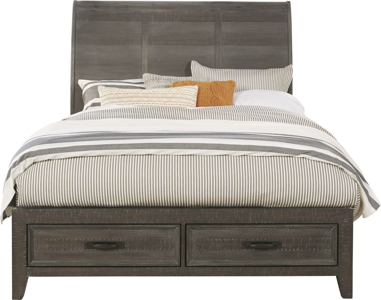 Finlay Espresso 3 Pc Queen Sleigh Bed With Storage Rooms To Go