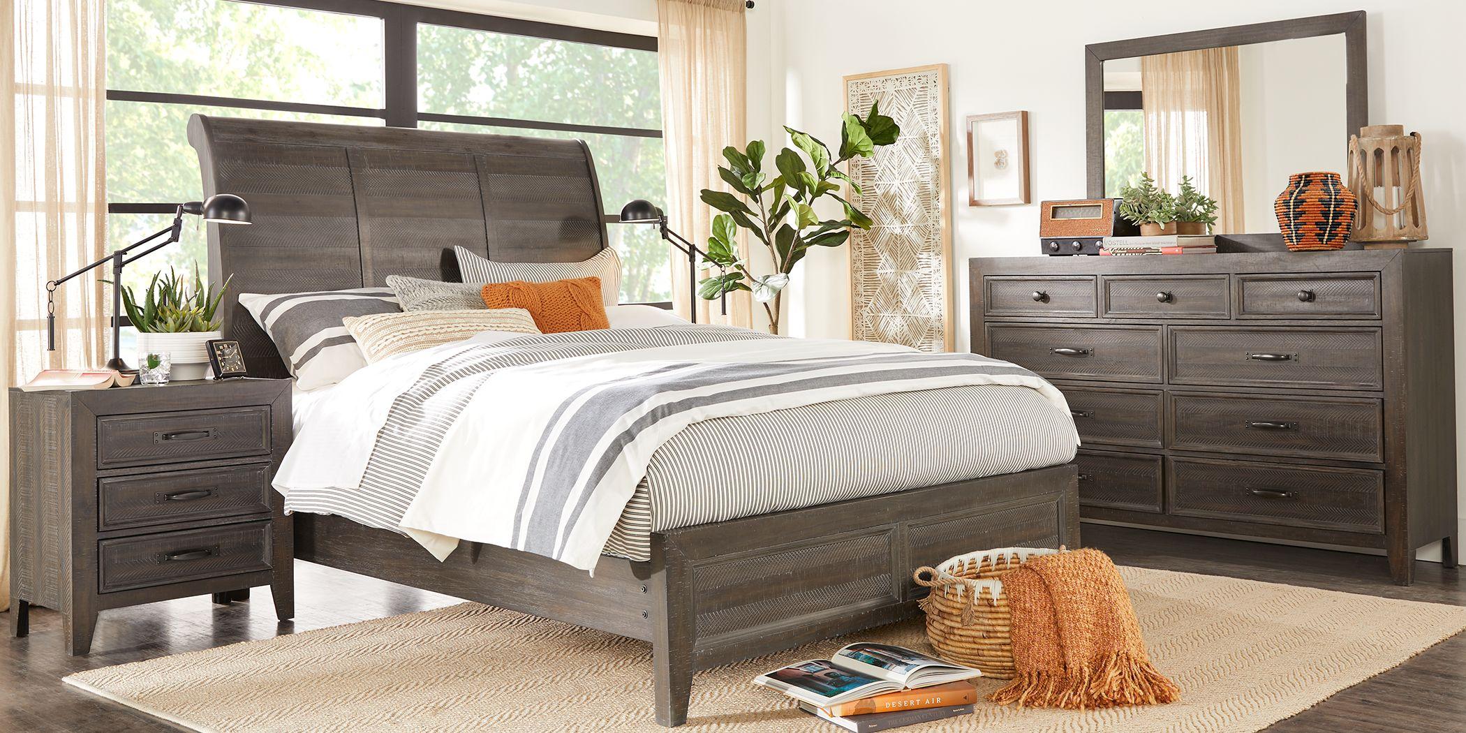 Finlay Espresso 5 Pc King Sleigh Bedroom