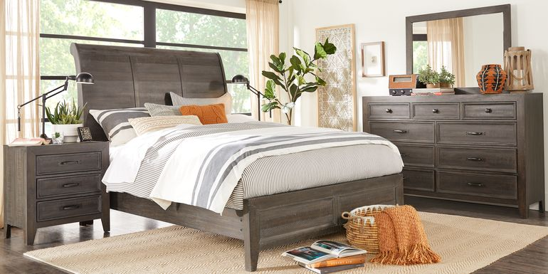 Finlay Espresso 5 Pc King Sleigh Bedroom