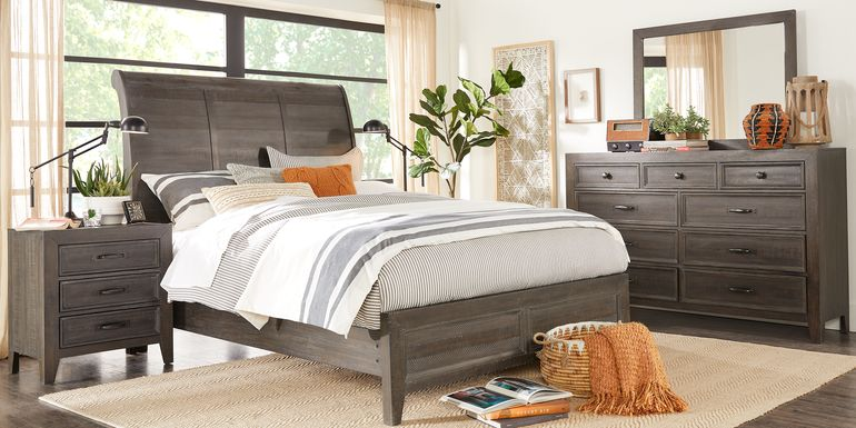 Finlay Espresso 5 Pc Queen Sleigh Bedroom